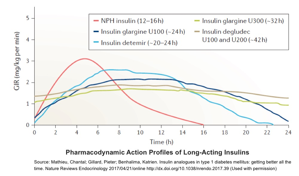 Pharmacodynamics long acting insulins
